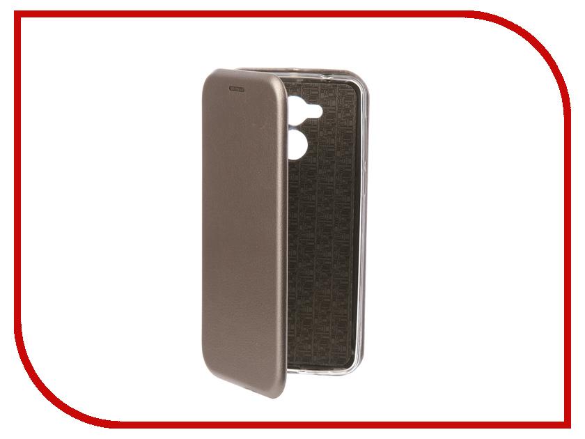 Аксессуар Чехол-книга для Huawei Honor 6C Innovation Book Silicone Silver 11524