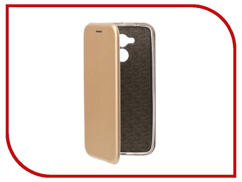 Аксессуар Чехол-книга для Huawei Honor 6C Innovation Book Silicone Gold 11526