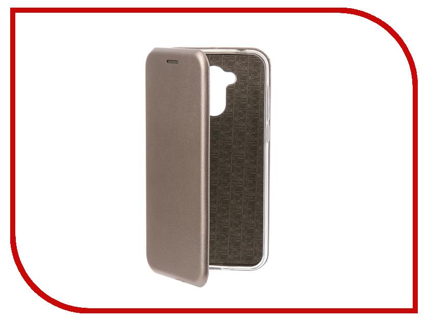Аксессуар Чехол-книга для Huawei Honor 6A Innovation Book Silicone Silver 11528