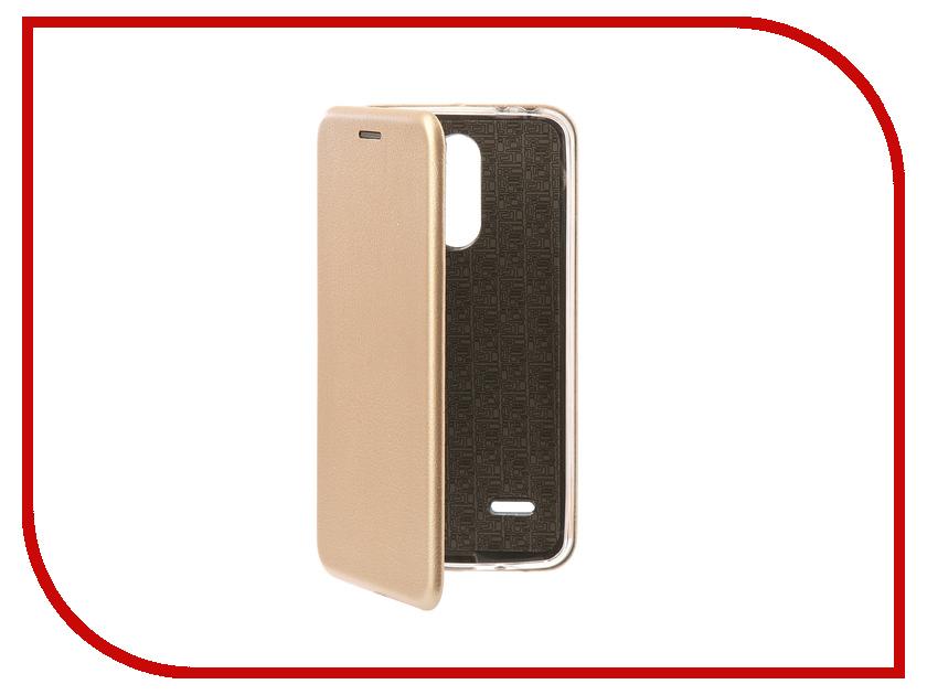 Аксессуар Чехол-книга для LG X240 K8 2017 Innovation Book Silicone Gold 11542 кейс для назначение lg k8 lg lg k5 lg k4 lg k10 lg k7 lg g5 lg g4 бумажник для карт кошелек со стендом флип чехол сплошной цвет твердый