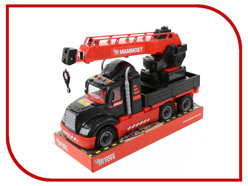 Игрушка Автокран Полесье с поворотной платформой Mammoet 205-03 (57112) автокар конструктор полесье mammoet 15 элементов в сеточке 62734