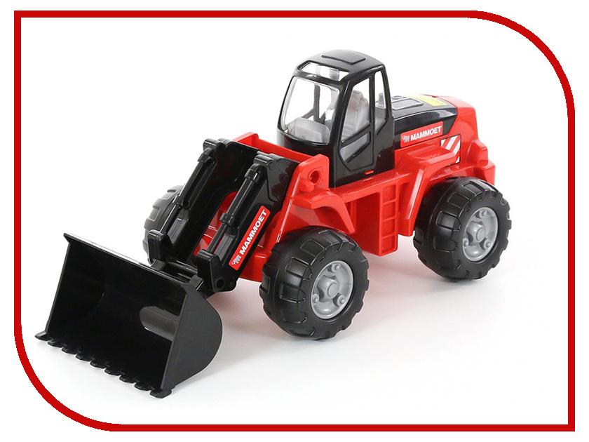 Игрушка Полесье Трактор-погрузчик MAMMOET 207-01 56788 автокар конструктор полесье mammoet 15 элементов в сеточке 62734