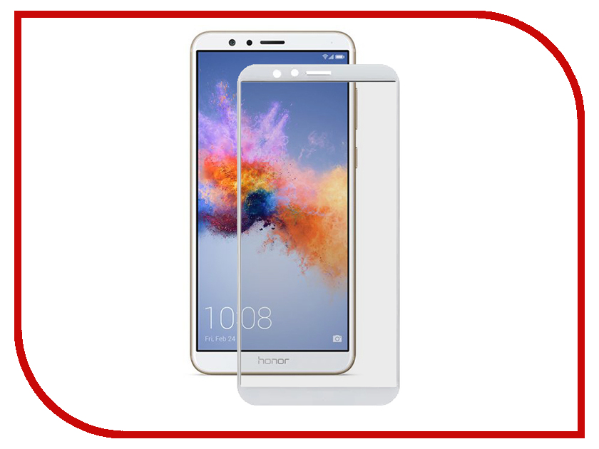 Аксессуар Защитное стекло для Huawei Honor 7X Media Gadget 2.5D Full Cover Glass White Frame MGFCHH7XWT for huawei honor play 7x 0 26mm 9h surface hardness 2 5d explosion proof tempered glass screen film