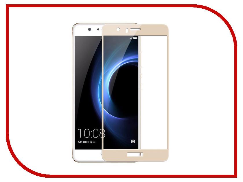 Аксессуар Защитное стекло Huawei Honor 8 Media Gadget 2.5D Full Cover Glass Gold Frame MGFCHH8GD аксессуар защитное стекло huawei honor 8 lite media gadget 2 5d full cover glass black frame mgfchh8lbk