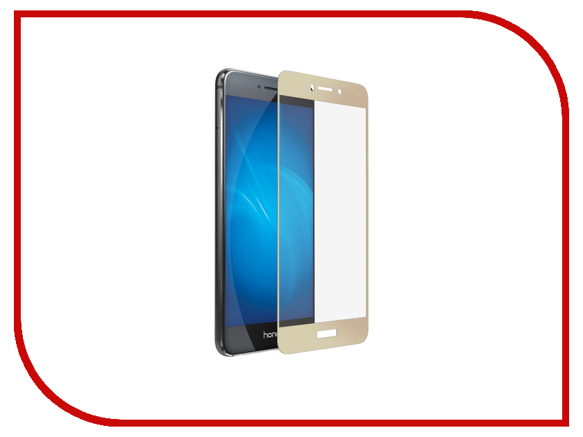 Аксессуар Защитное стекло для Huawei Honor 8 Lite Media Gadget 2.5D Full Cover Glass Gold Frame MGFCHH8LGD gl703vd gc029t