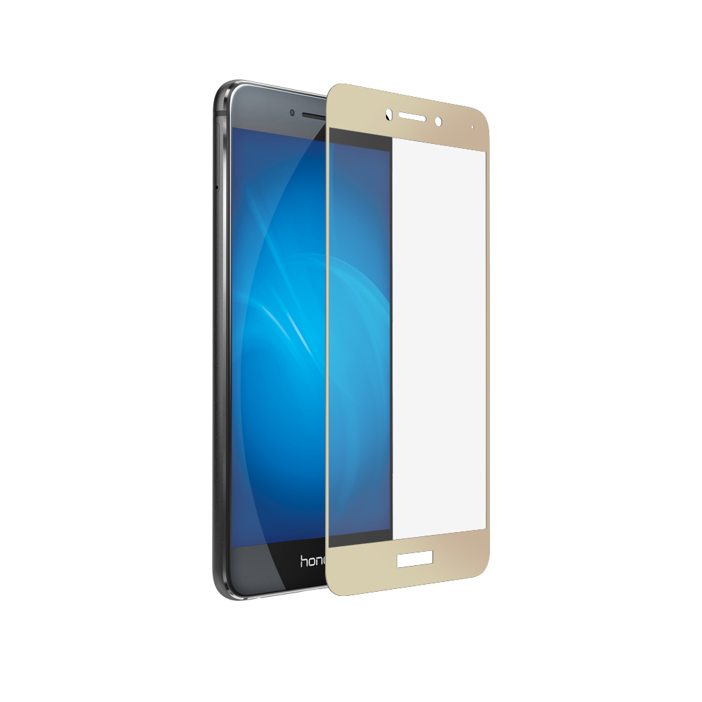 Аксессуар Защитное стекло Media Gadget для Honor 8 Lite 2.5D Full Cover Glass Gold Frame MGFCHH8LGD цена и фото