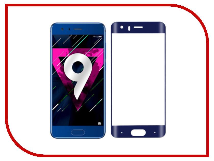 Аксессуар Защитное стекло для Huawei Honor 9 Media Gadget 2.5D Full Cover Glass Blue Frame MGFCHH9BL аксессуар защитное стекло huawei honor 8 lite media gadget 2 5d full cover glass black frame mgfchh8lbk