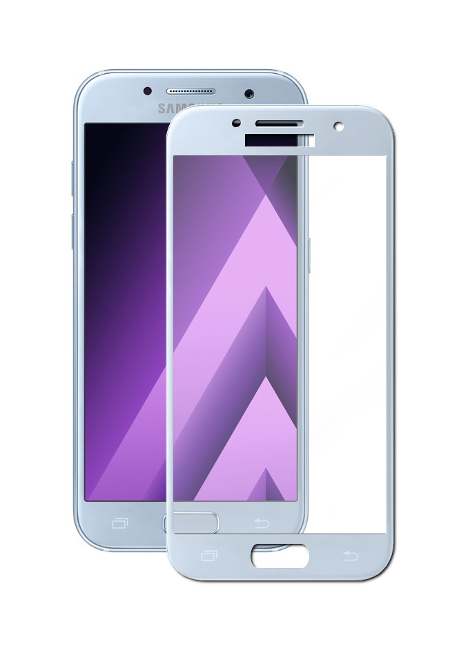 Аксессуар Защитное стекло Media Gadget для Samsung Galaxy A3 2017 2.5D Full Cover Glass Blue Frame MGFCSGA317BL аксессуар защитное стекло samsung galaxy a3 2016 sm a310f solomon full cover pink