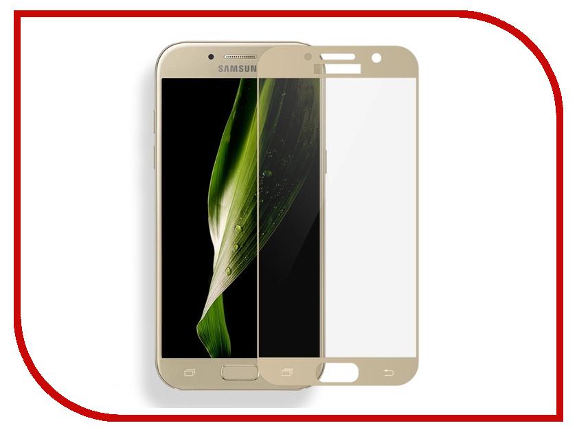 Аксессуар Защитное стекло Samsung Galaxy A5 2017 Media Gadget 2.5D Full Cover Glass Gold Frame MGFCSGA517GD защитное стекло для samsung galaxy a5 2016 inter step full screen cover samsung a5 black
