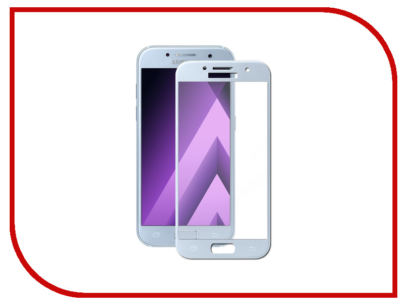 Аксессуар Защитное стекло для Samsung Galaxy A7 2017 Media Gadget 2.5D Full Cover Glass Blue Frame MGFCSGA717BL