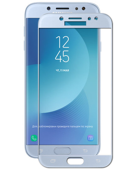 Аксессуар Защитное стекло Media Gadget для Samsung J5 2017 2.5D Full Cover Glass Blue Frame MGFCSGJ517BL