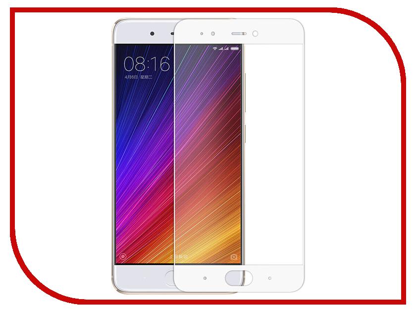 Аксессуар Защитное стекло Xiaomi Mi 5S Media Gadget 2.5D Full Cover Glass White Frame MGFCXM5SWT xiaomi mi 5 mi 5 32 gb white