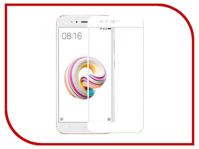 Аксессуар Защитное стекло для Xiaomi Mi A1 Media Gadget 2.5D Full Cover Glass White Frame MGFCXMA1WT