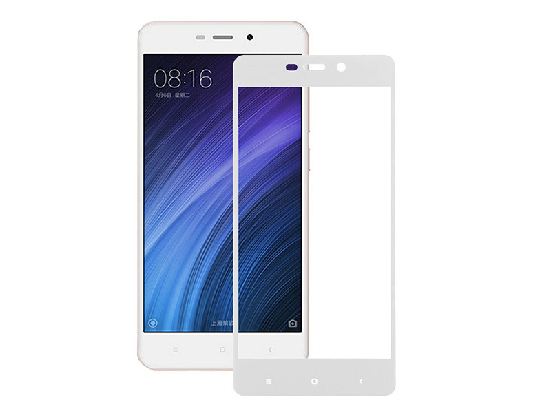 Аксессуар Защитное стекло Media Gadget для Xiaomi Redmi 4A 2.5D Full Cover Glass White Frame MGFCXR4AWT