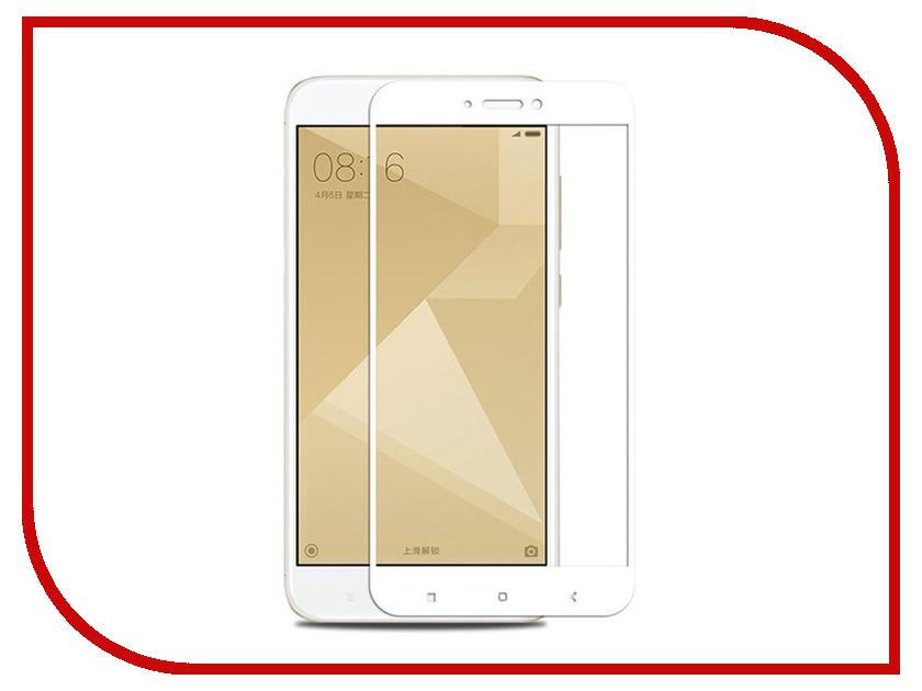 Аксессуар Защитное стекло для Xiaomi Redmi 4X Media Gadget 2.5D Full Cover Glass White Frame MGFCXR4XWT