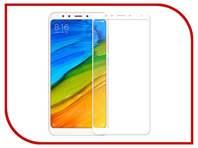 Аксессуар Защитное стекло Xiaomi Redmi 5 Plus Media Gadget 2.5D Full Cover Glass White Frame MGFCXR5PWT аксессуар защитное стекло xiaomi redmi note 3 onext eco 43077