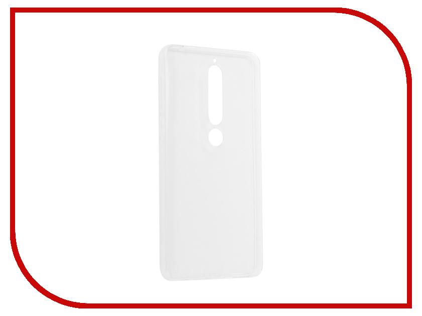 Аксессуар Чехол для Nokia 6 2018 Pero Silicone Transparent аксессуар чехол для nokia 6 2018 pero silicone transparent