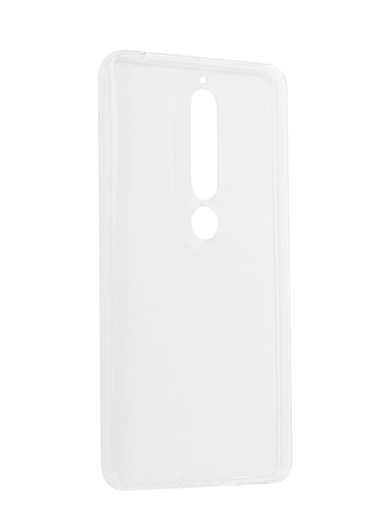 Аксессуар Чехол Pero для Nokia 6 2018 Silicone Transparent аксессуар чехол onext для nokia 6 2018 silicone transparent 70575