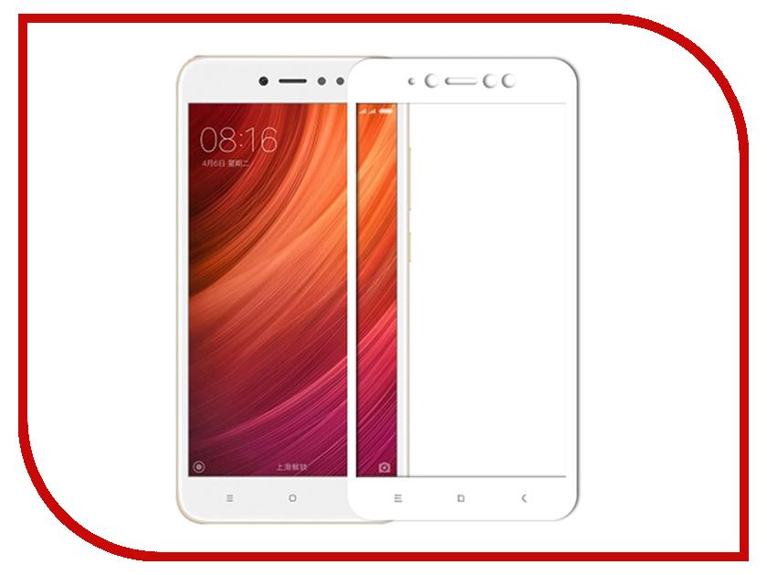 Аксессуар Защитное стекло Xiaomi Redmi Note 5A Media Gadget 2.5D Full Cover Glass White Frame MGFCXRN5AWT аксессуар защитное стекло xiaomi redmi note 4x red line tempered glass