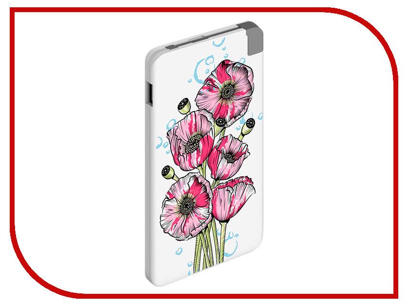 Аккумулятор Deppa NRG Art 5000 Spring Poppies аккумулятор deppa nrg power 13000mah white 33513