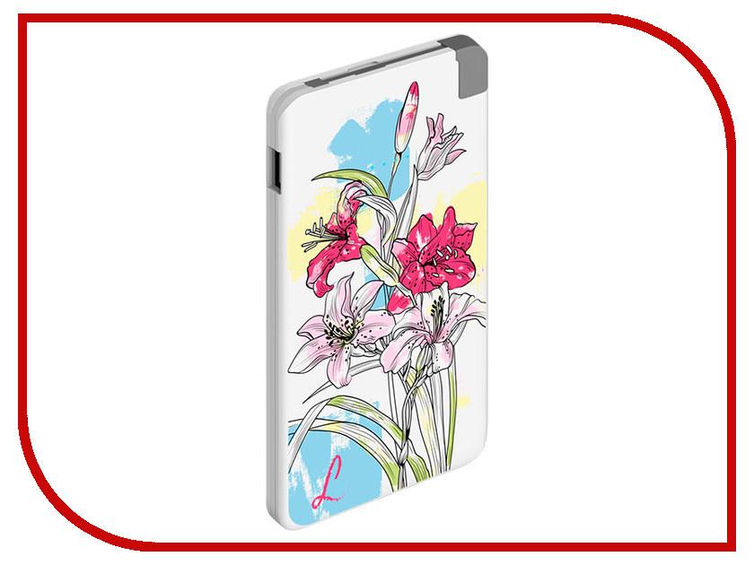 Аккумулятор Deppa NRG Art 5000 Spring Lilies аккумулятор deppa apple watch nrg watch 900 mah mfi белый 33516