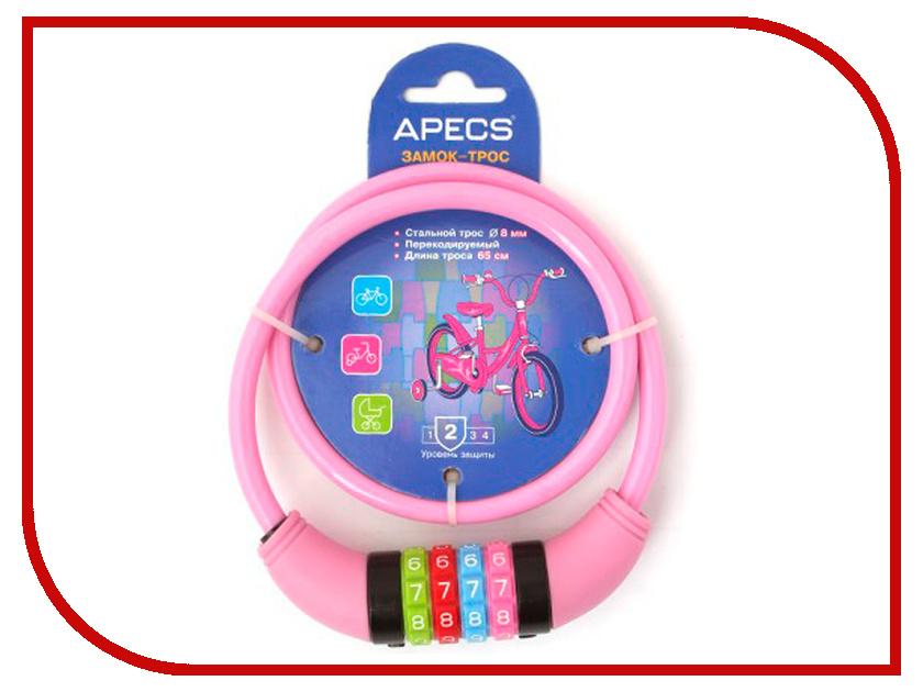 Замок Apecs PD-82-65CM-CODE-PINK замок apecs pd 82 65cm code pink