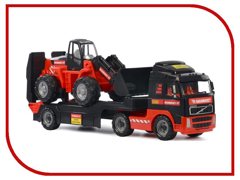 Игрушка Полесье Трейлер и трактор-погрузчик Mammoet Volvo 204-01 (56733) полесье полесье игрушка каталка mammoet volvo мега экскаватор колесный