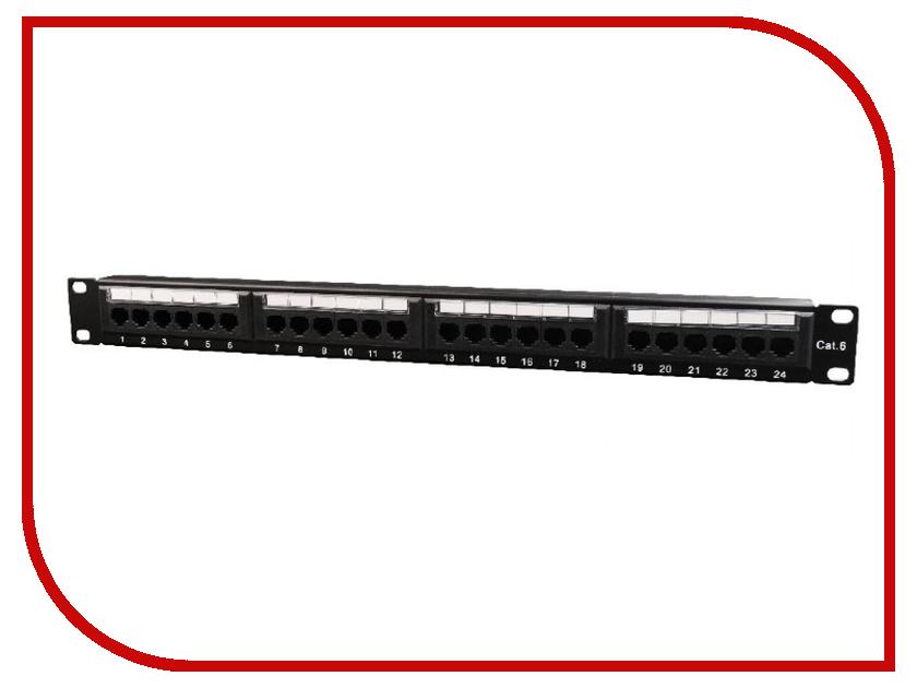 Коммутационная панель Коммутационная панель Gembird Cablexpert NPP-C624CM-001 пули ts 218b 5 бит переключатель управления 4 8 м общая розетка вилка строк коммутационная панель