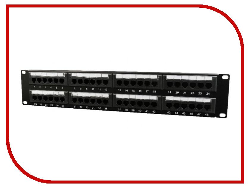 Коммутационная панель Коммутационная панель Gembird Cablexpert NPP-C648CM-001 пули ts 218b 5 бит переключатель управления 4 8 м общая розетка вилка строк коммутационная панель