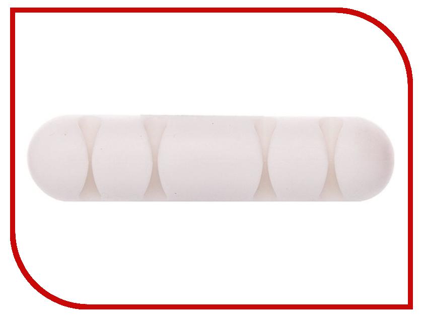 Аксессуар Держатель для кабеля Activ CC-002 for 4 Cables White 80272 zhongyi 801 pu leather band 4 dial decoration analog quartz wrist watch white silver
