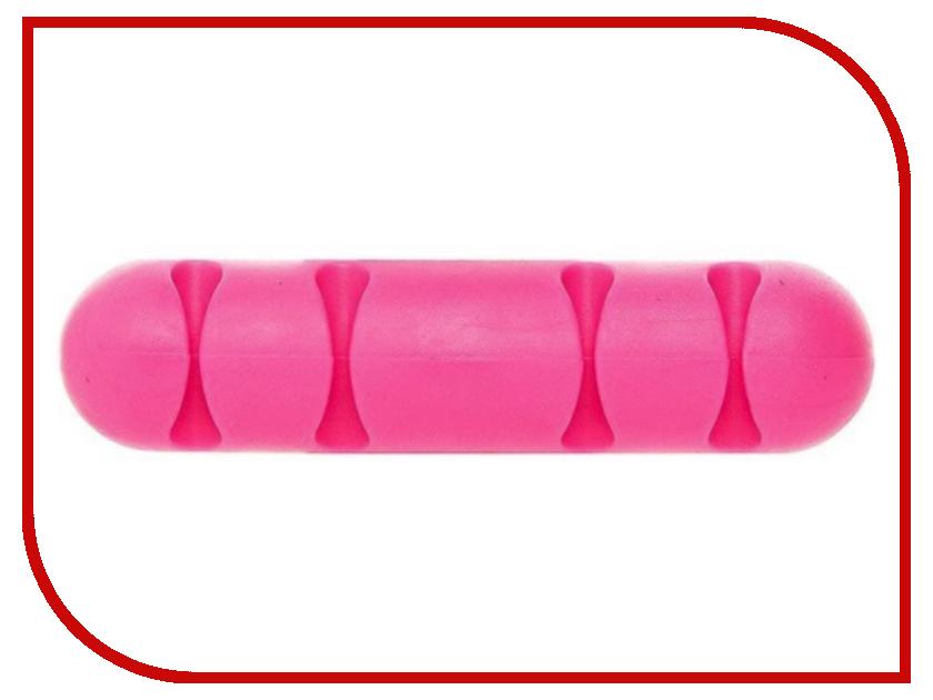 Держатель для кабеля Activ CC-002 for 4 Cables Pink 80270