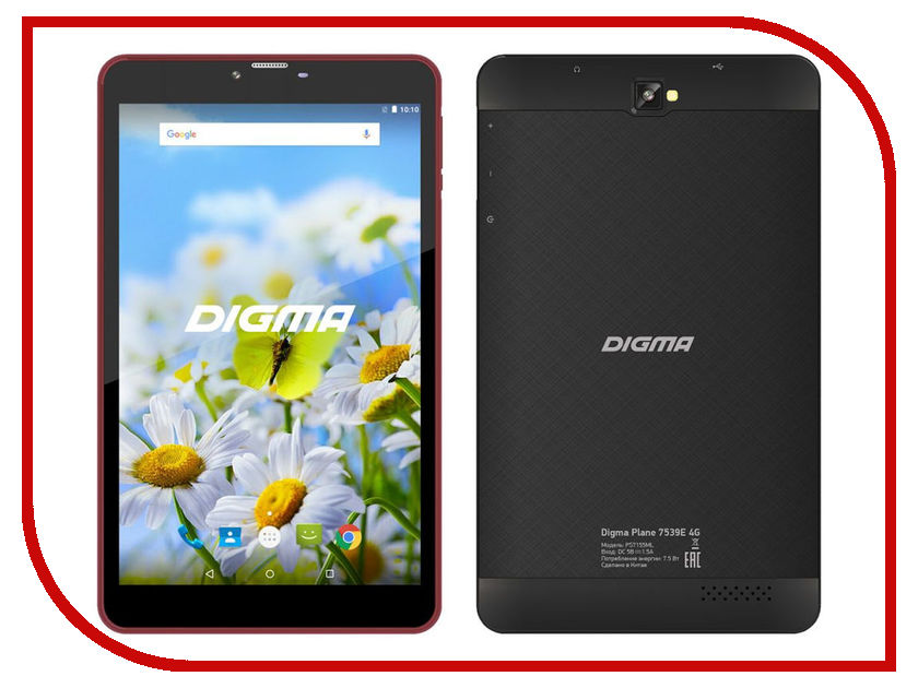 Планшет Digma Plane 7539E 4G Black-Purple unlocked netger 4g 150mbps sierra wireless router aircard 770s 4g lte mobile wifi hotspot dongle 4g pocket wifi