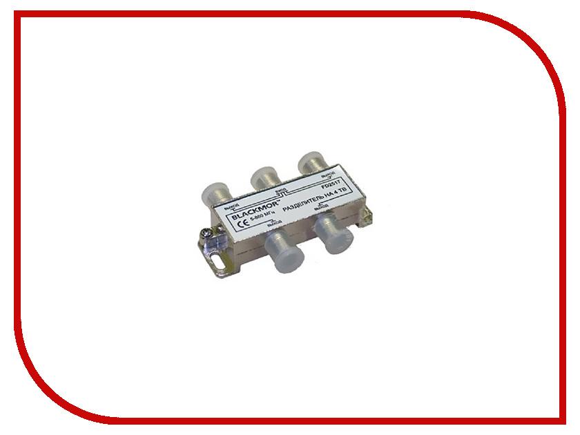 Разделитель Blackmor на 4 ТВ + 6 F разъемов МК94 кабель антенный hama f tv f f tv f плоский для прокладки через окна 00122492