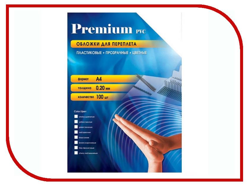 Обложки для переплета Office Kit 100шт пластик Transparent-Red PRA400200