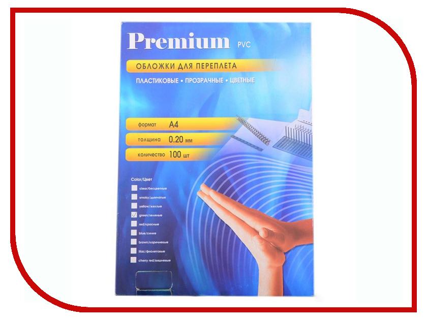Обложки для переплета Office Kit 100шт пластик Transparent-Green PGA400200