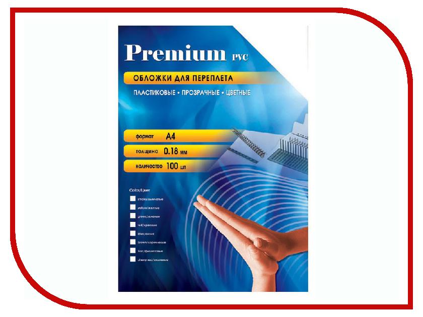Обложки для переплета Office Kit 100шт пластик Transparent-Blue PBA400180