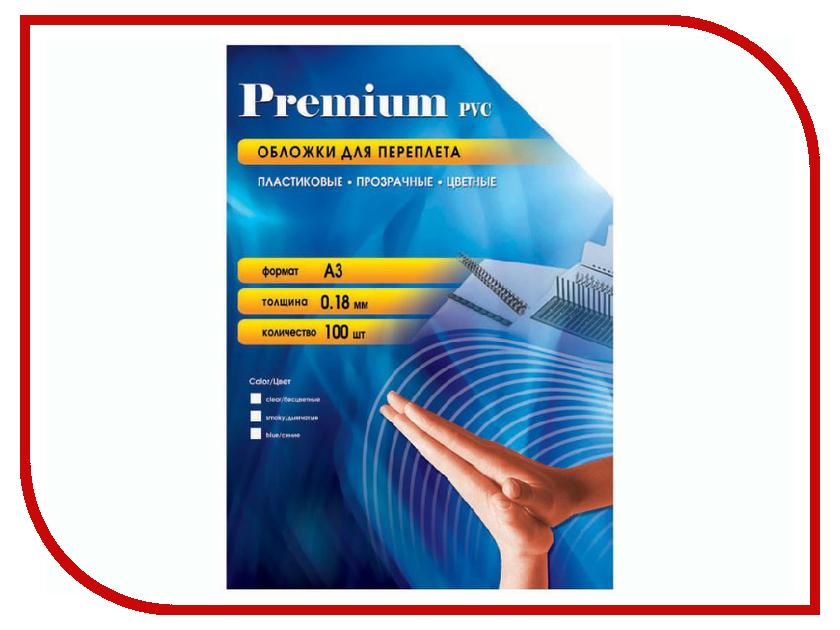 Обложки для переплета Office Kit 100шт пластик Transparent-Blue PBA300180 outdoor retractable plastic cups blue transparent 100ml
