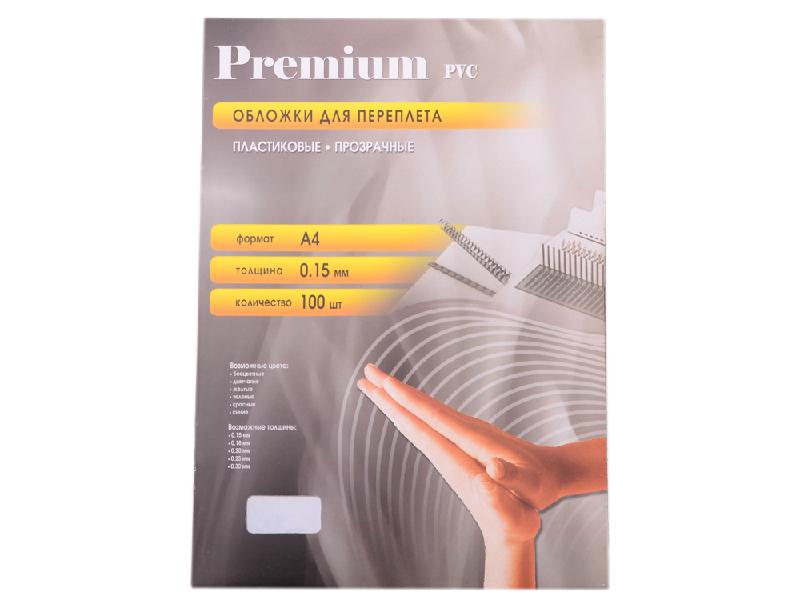 Обложки для переплета Office Kit 100шт пластик Transparent PCA400150
