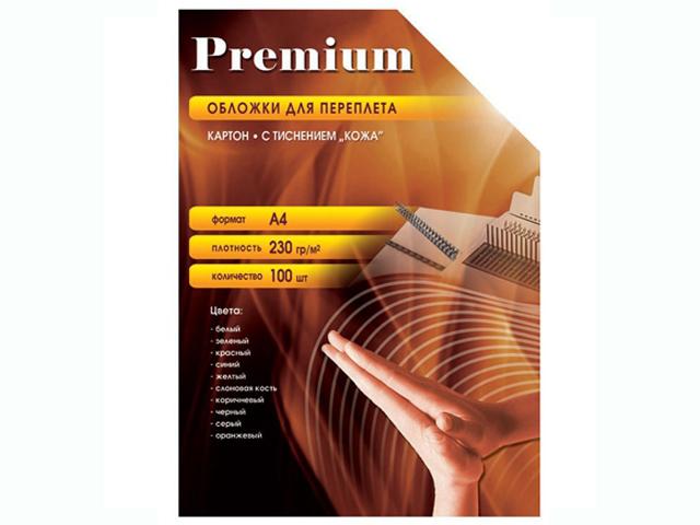 Обложки для переплета Office Kit 100шт кожа Ivory CIA400230