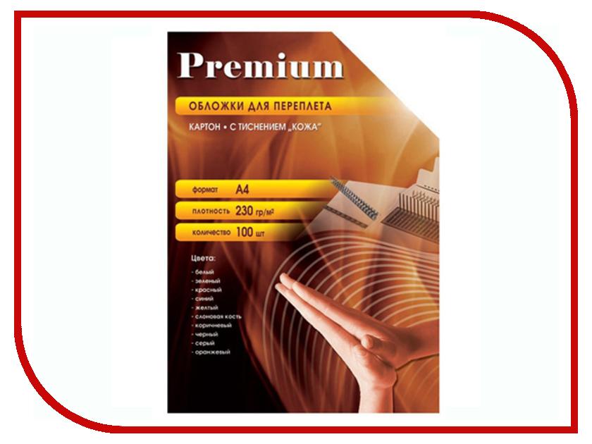 Обложки для переплета Office Kit 100шт кожа Red CRA400230