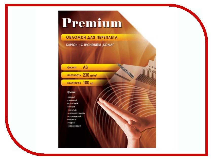 Обложки для переплета Office Kit 100шт кожа White CWA300230