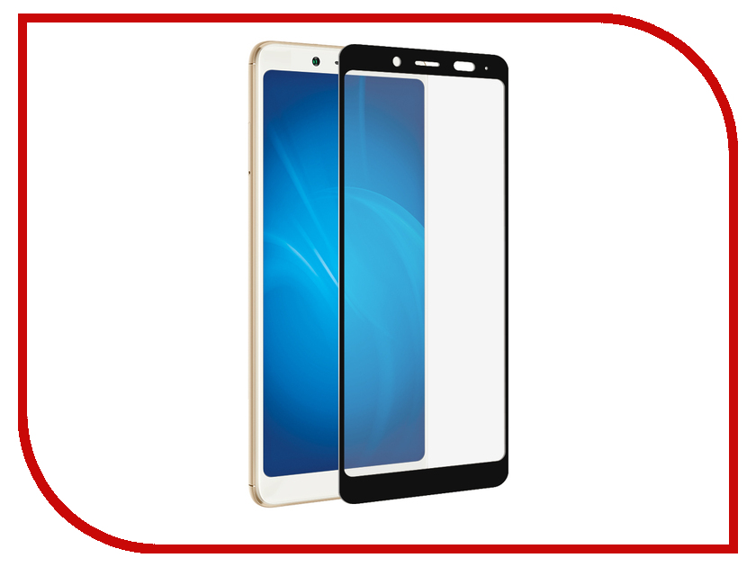 Аксессуар Защитное стекло для Xiaomi Redmi Note 5 Pro Pero 2.5D Black аксессуар чехол для xiaomi redmi note 5 pro pero soft touch black prstc rn5pb