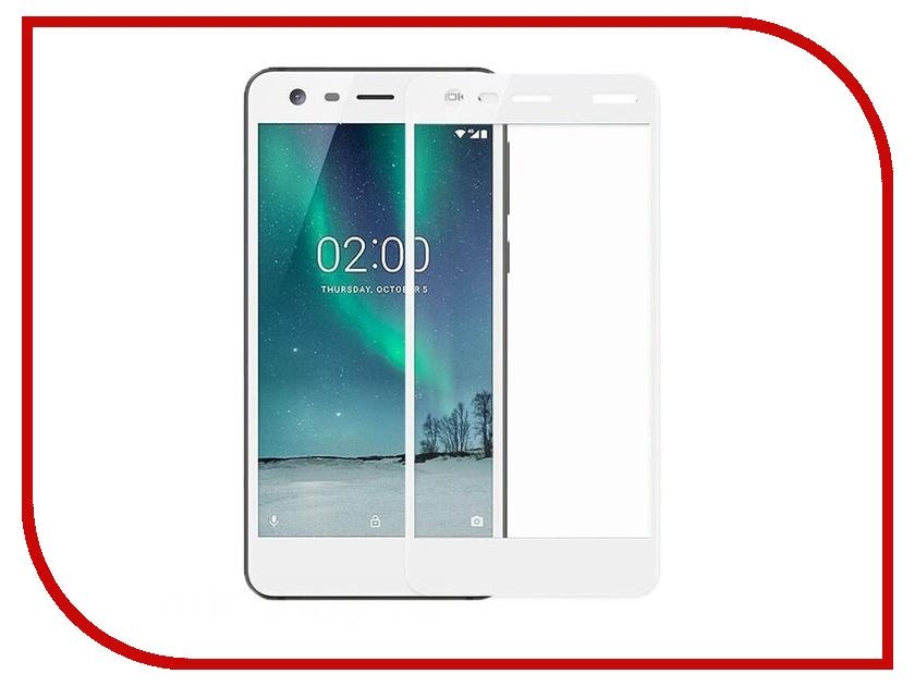 Аксессуар Защитное стекло Nokia 2 Pero 2.5D White
