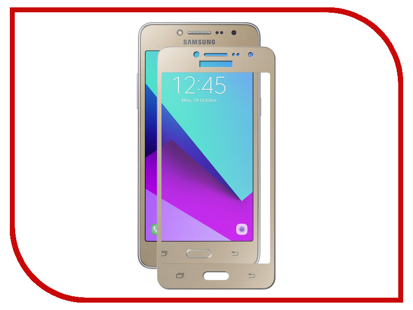 Аксессуар Защитное стекло Samsung Galaxy J2 Prime Pero 2.5D Gold аксессуар защитное стекло samsung galaxy a3 2017 solomon full cover black