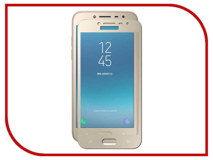 Аксессуар Защитное стекло для Samsung Galaxy J2 2018 Pero 2.5D Gold original silicone protective cover soft case for oukitel c3