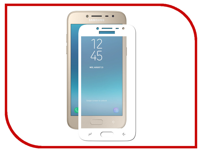 Аксессуар Защитное стекло Samsung Galaxy J2 2018 Pero 2.5D White аксессуар защитное стекло samsung galaxy a3 2017 solomon full cover black