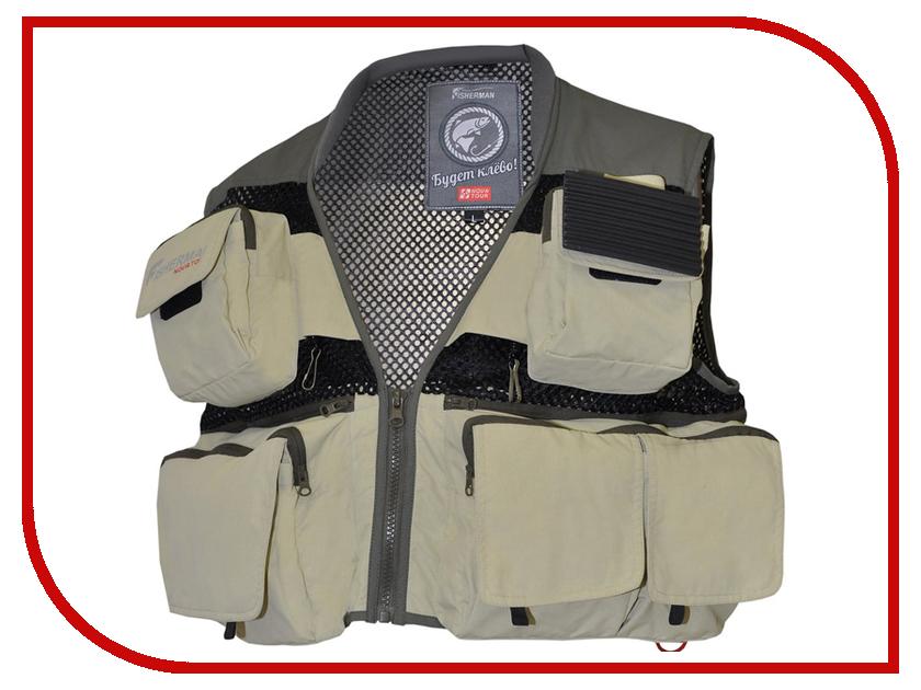Жилет Nova Tour Fisher Man Профи Лайт Khaki S 95733-530-S куртки nova tour куртка коаст prime