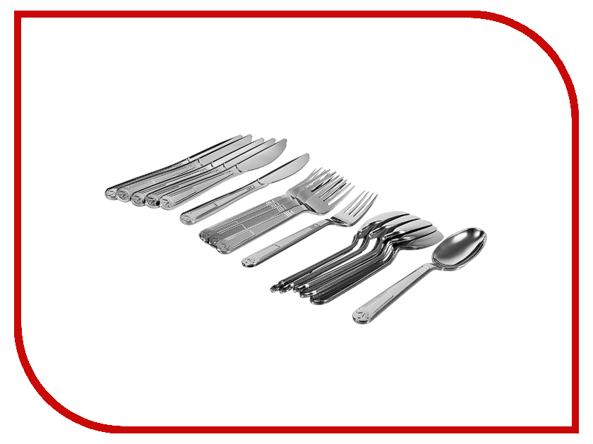 Набор столовых приборов Boyscout Premium Chrome 61704 одноразовый