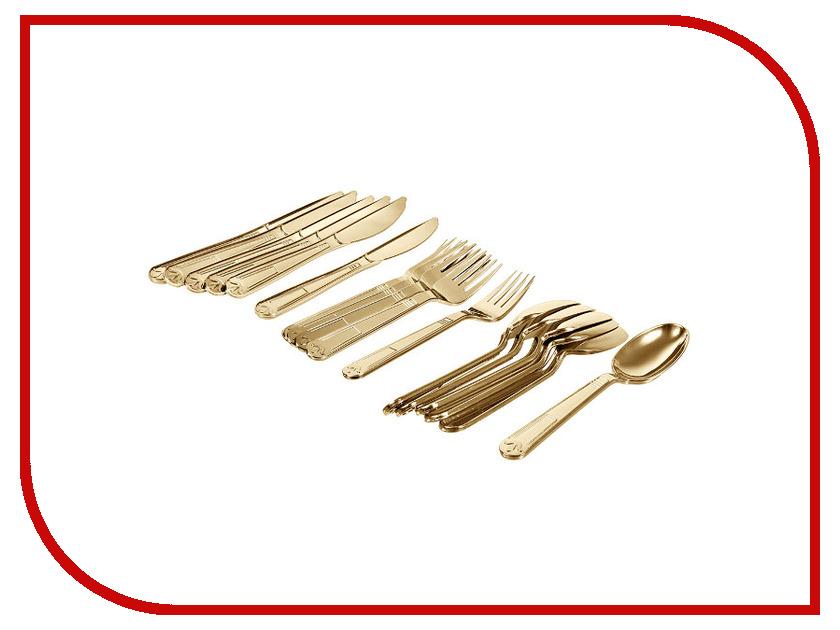 Набор столовых приборов Boyscout Premium Gold 61718 одноразовый