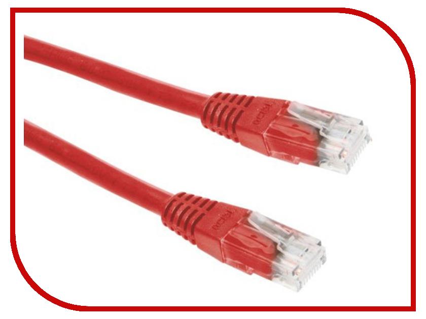 Сетевой кабель ExeGate UTP cat.5e 1m Red 258673